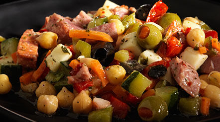 Antipasto with Meat & Cheese