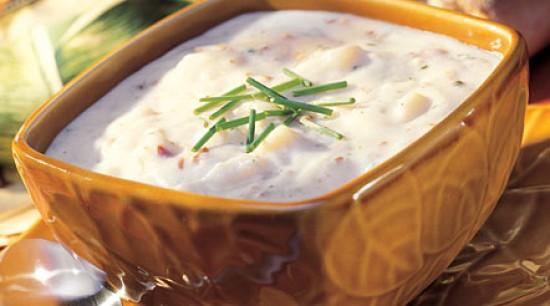 Cream of Potato Soup with Bacon