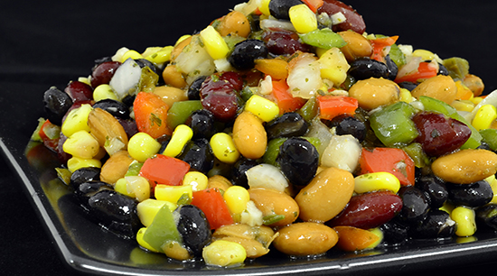 Three Bean Salad with Pepper