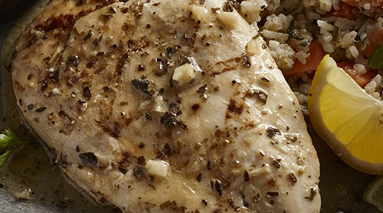 Fully Cooked Grilled Italian Herb Chicken Breast - BULK