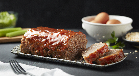 Fully Cooked Meatloaf with Sauce