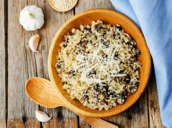 Garlic Mushroom Quinoa