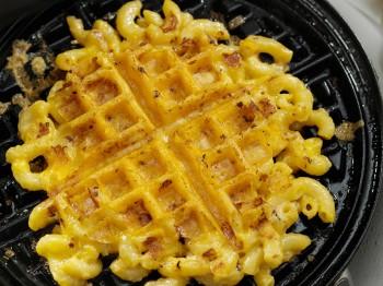 Savory Mac & Cheese Waffles