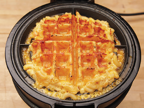 Savory Mac & Cheese Waffles