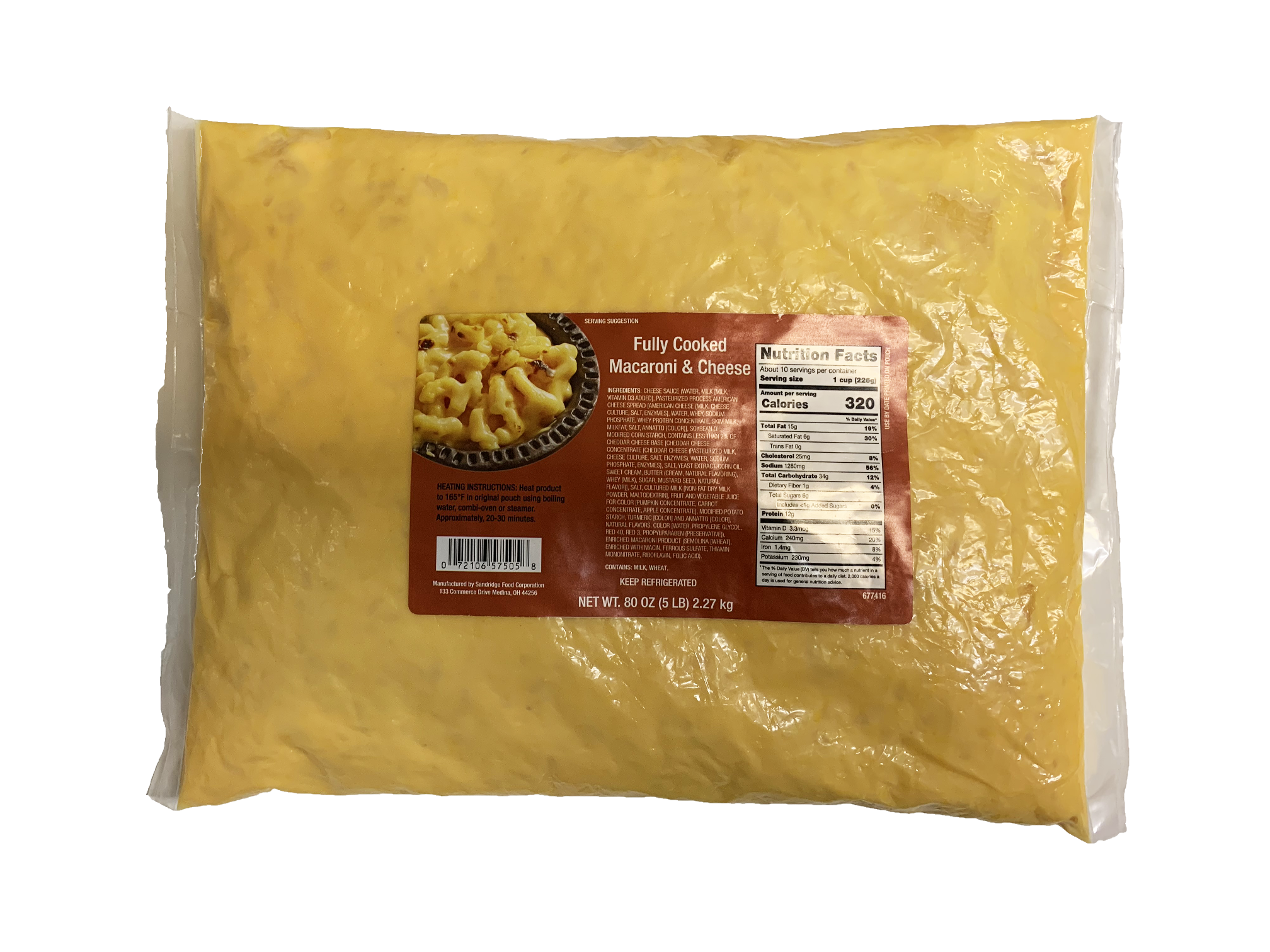 Macaroni & Cheese with Labels