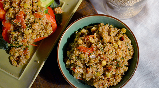 Spicy Bulgur & Quinoa