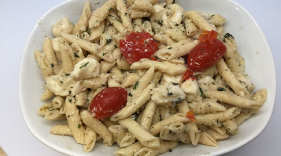 Penne with Tomatoes & Mozzarella