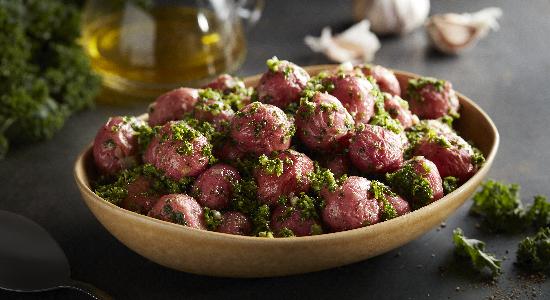 Roasted Potatoes with Kale Pesto