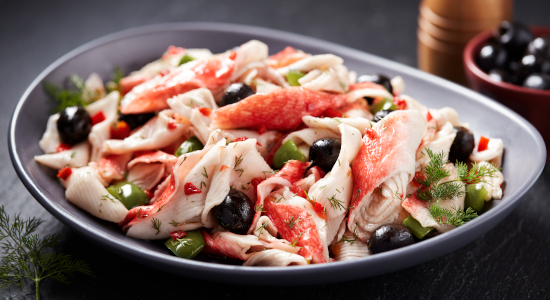Tuscan Style Krab Salad- Made with imitation crab meat