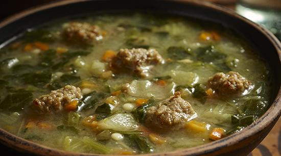 Wedding Soup with Italian Style Meatballs