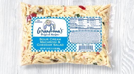 Sour Cream Macaroni & Cheddar Salad