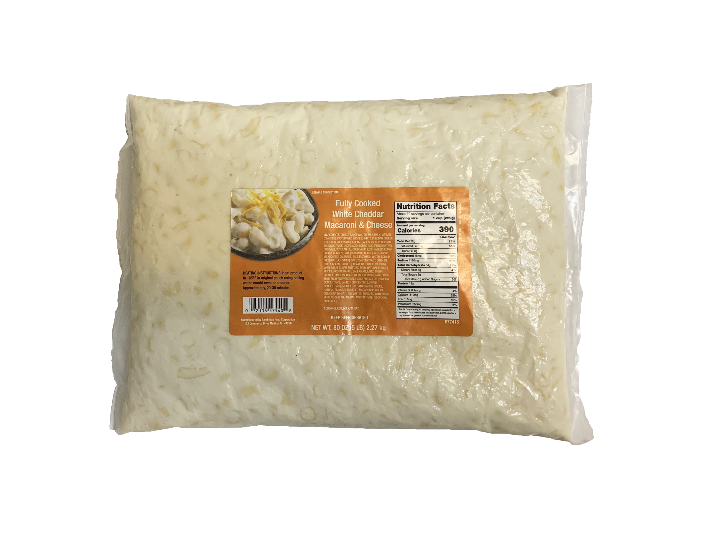 White Cheddar Macaroni & Cheese with Labels
